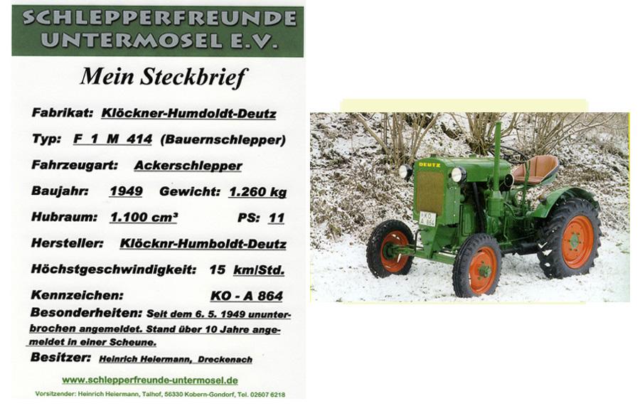 Heiermann Deutz F 1 M 414