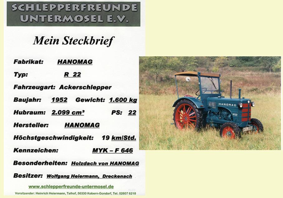 Heiermann, Wolfgang Hanomag R 22