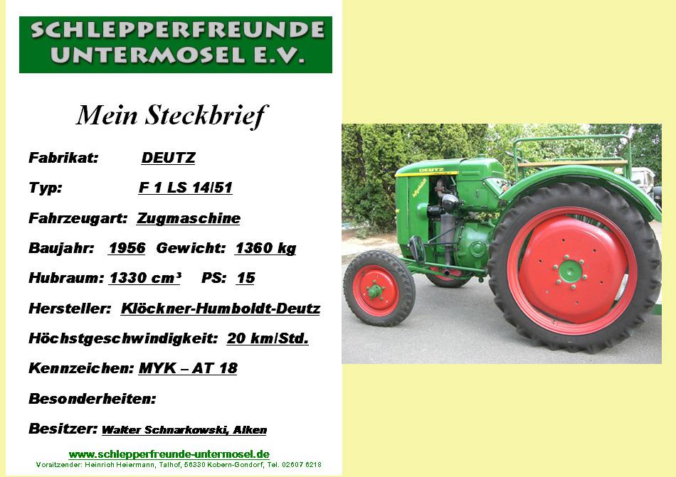 Schnarkowski, W Deutz mit Bild