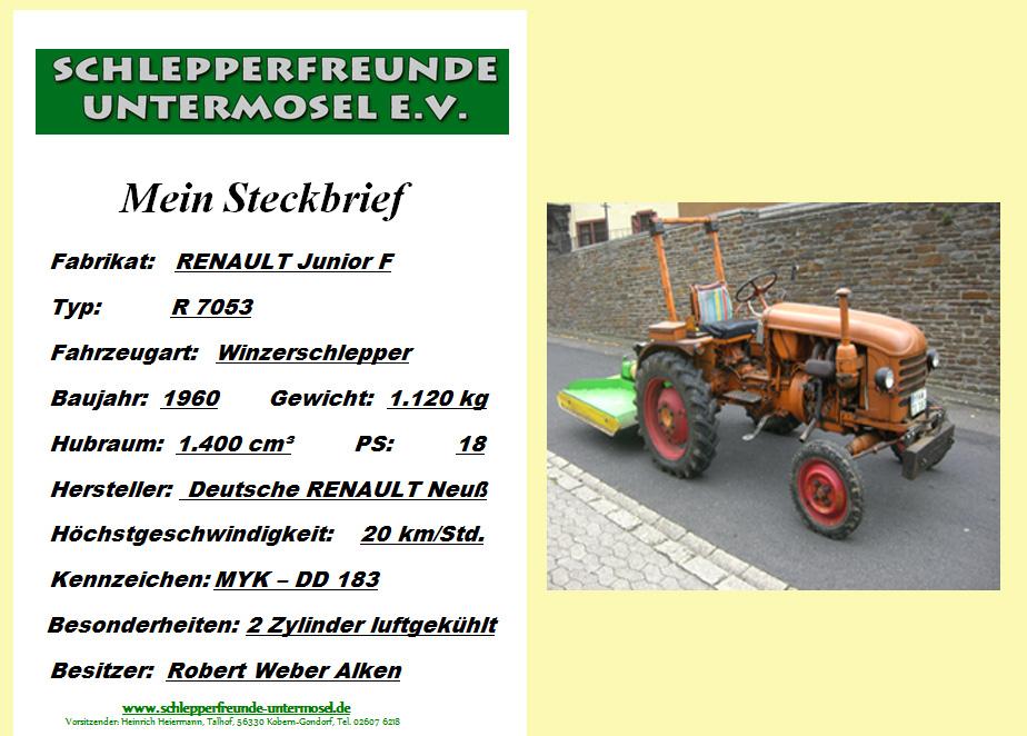 Weber Renault Junior F